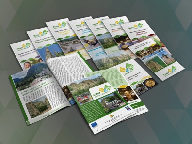 Advertising materials for travel destination Vratsa-Mezdra-Roman